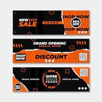 Diseño de banners de gran apertura