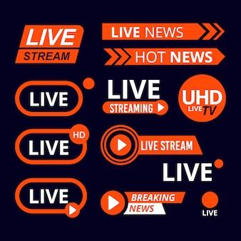 Diseño de banners de noticias en vivo