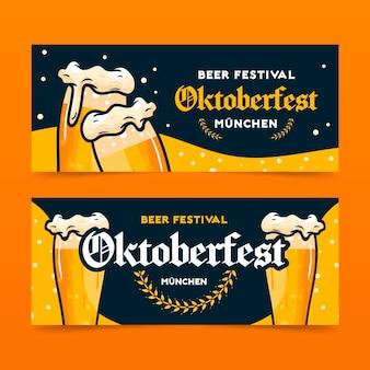 Diseño de banners de oktoberfest