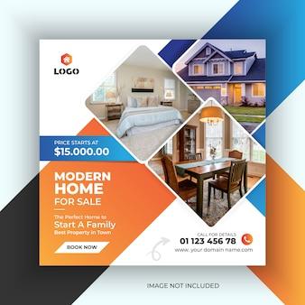 Diseño de banners publicitarios de bienes raíces para publicaciones en redes sociales