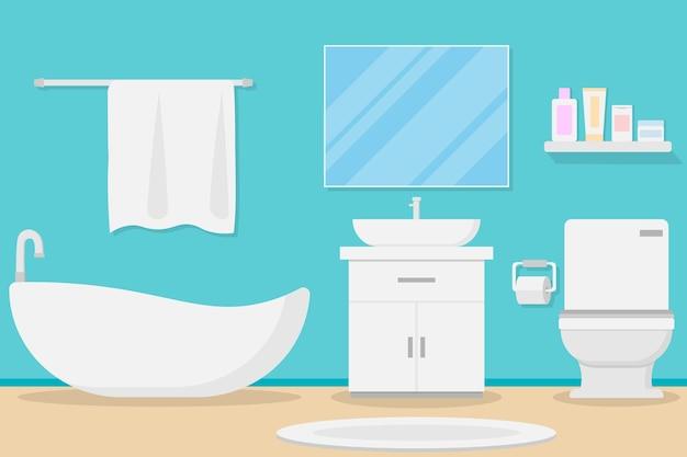 Diseño de baño moderno interior