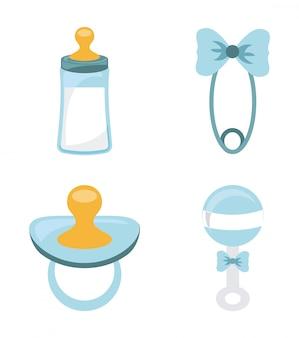 Diseño de bebé sobre fondo blanco ilustración vectorial