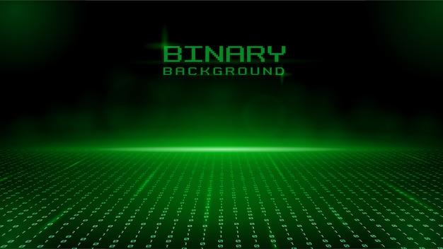 Diseño binario verde