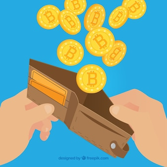 Diseño de bitcoin con cartera