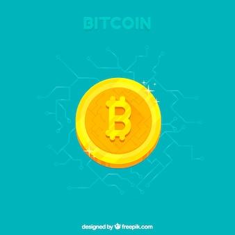 Diseño de bitcoin con moneda