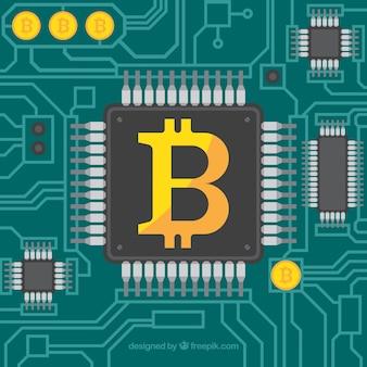 Diseño de bitcoin con procesador