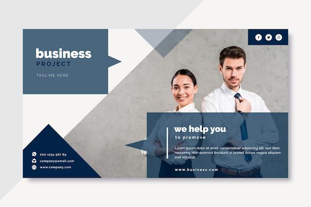 Diseño de blog de banner empresarial