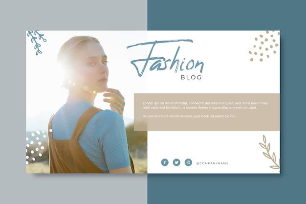 Diseño de blog de banner de moda