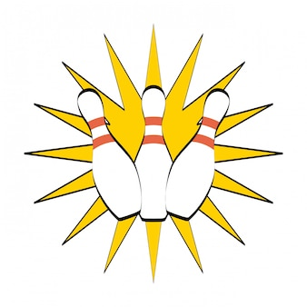 Diseño de bolos sobre fondo blanco ilustración vectorial