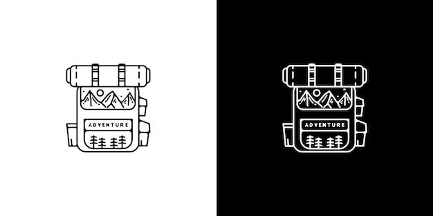 Diseño de bolso vintage monoline