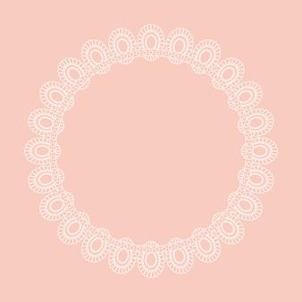 Diseño de borde circular estilo encaje