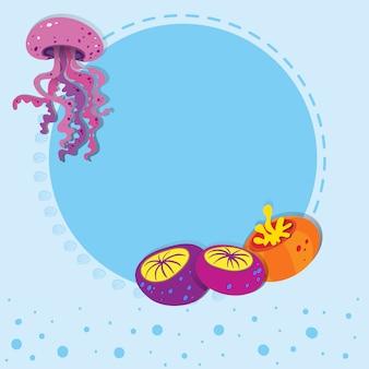 Diseño de borde con medusas.