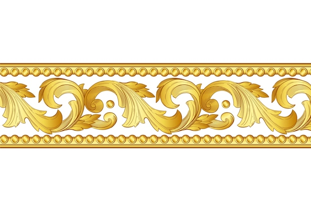 Diseño de borde ornamental dorado