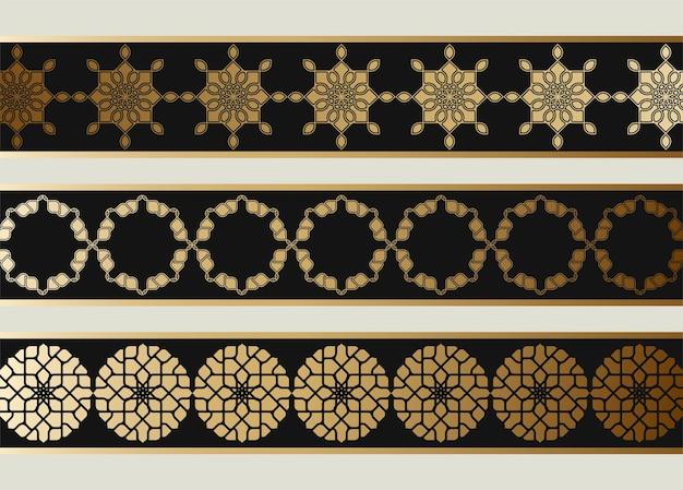 Diseño de borde transparente de estilo étnico islámico