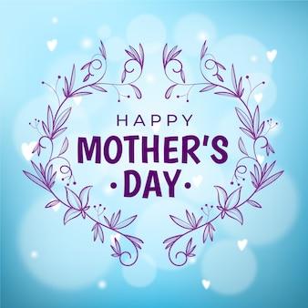 Diseño borroso con el día de la madre.