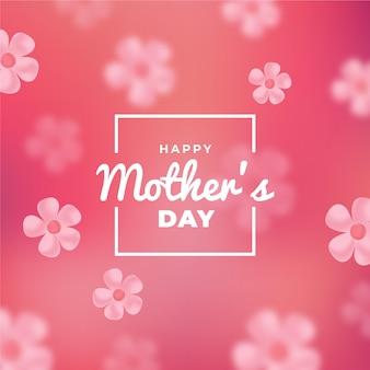 Diseño borroso el día de la madre