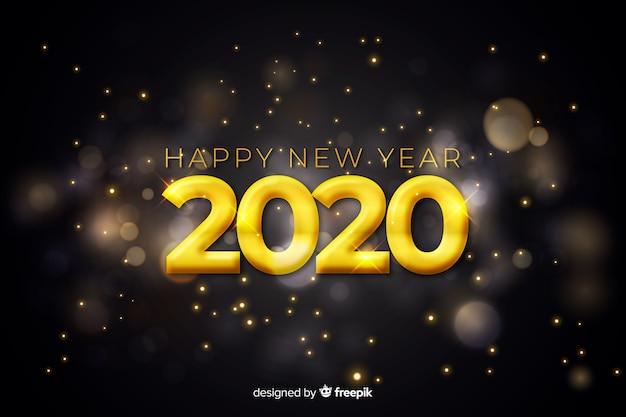 Diseño borroso para el evento de año nuevo 2020