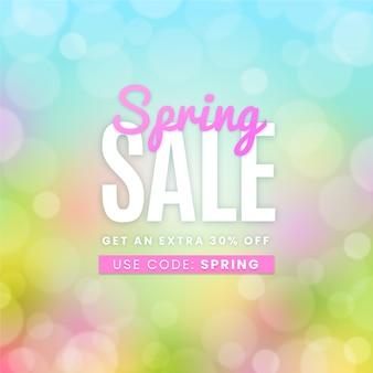 Diseño borroso para la venta de primavera con descuento