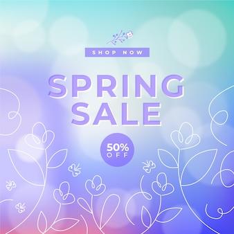 Diseño borroso para la venta de primavera