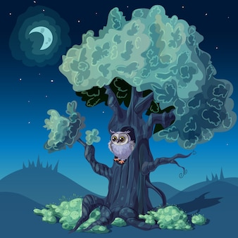 Diseño de bosque nocturno