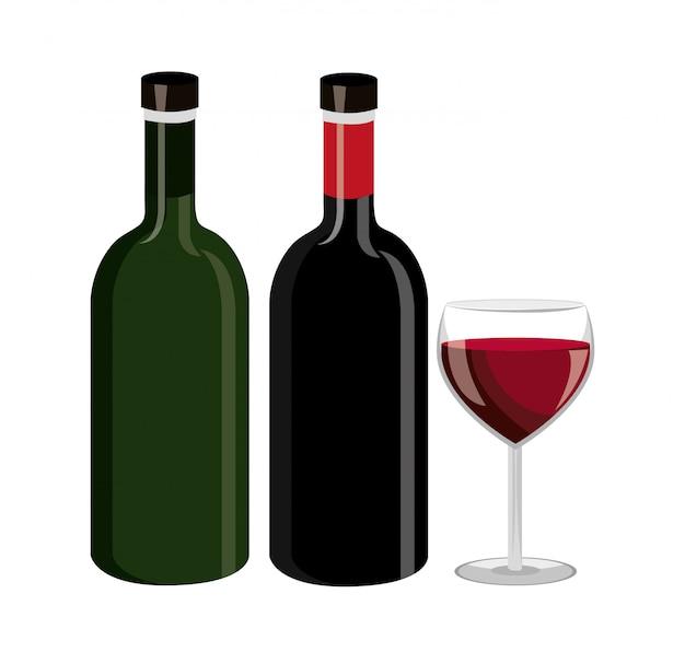 Diseño de botella de vino.