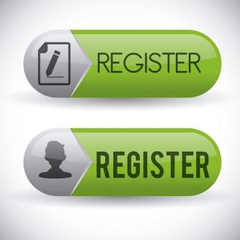 Diseño de botón de registro
