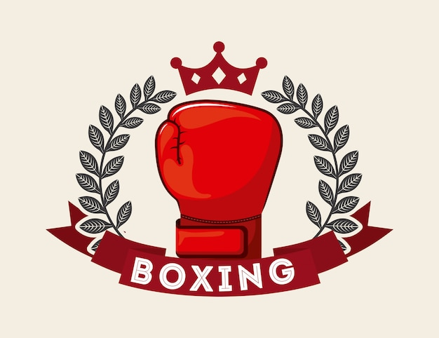 Diseño de boxeo sobre fondo blanco ilustración vectorial