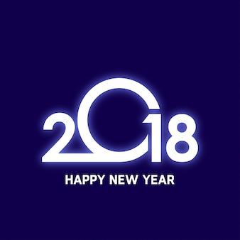 Diseño brillando de 2018 feliz año nuevo