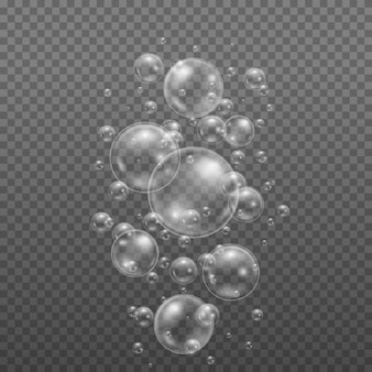 Diseño de brillo de esfera de burbujas de agua