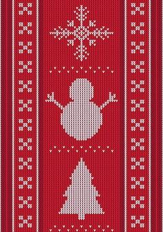 Diseño de bufanda de navidad