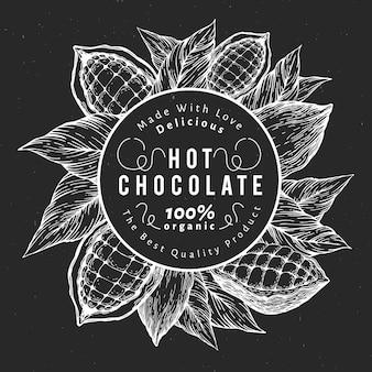 Diseño de cacao dibujado a mano