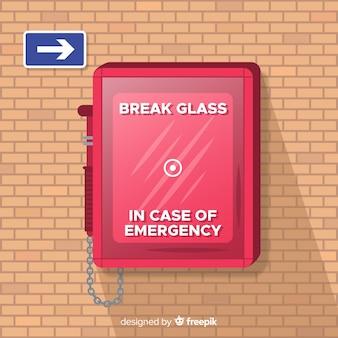 Diseño de caja de emergencia vacía