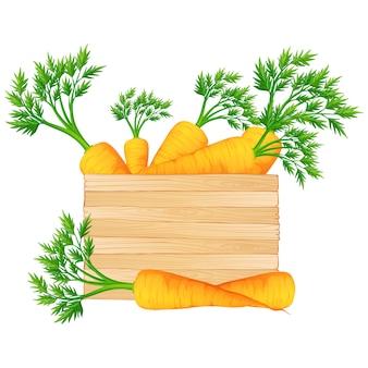 Diseño de caja llena de zanahorias