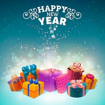 Diseño de cajas de regalo de navidad