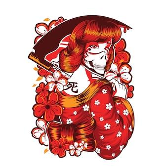 Diseño de calavera mujer