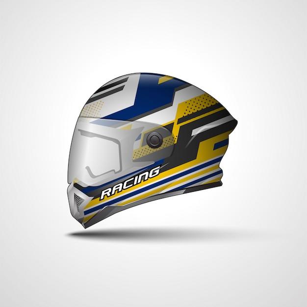 Diseño de calcomanía de casco racing sport y adhesivo de vinilo