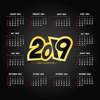 Diseño del calendario 2019