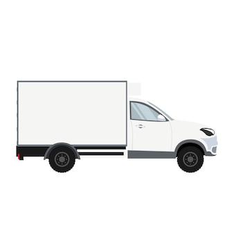 Diseño de camión con cámara de refrigeración para entrega.