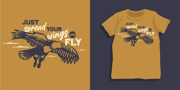 Diseño de camiseta de águila