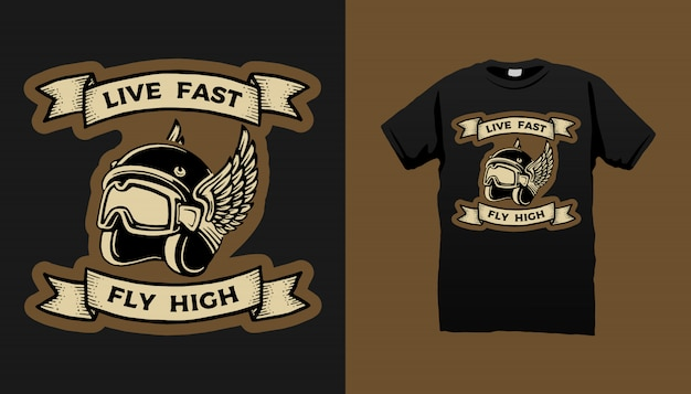 Diseño de camiseta de arte de motocicleta