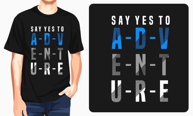 Diseño de camiseta de aventura