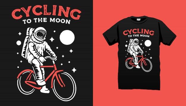 Diseño de camiseta de bicicleta astronauta.