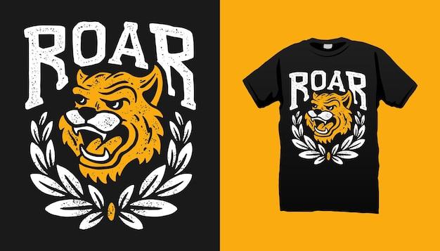 Diseño de camiseta de cabeza de tigre