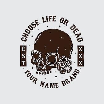 Diseño de camiseta de calavera.