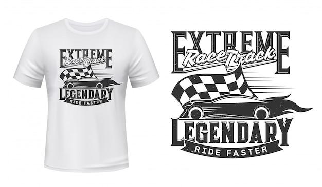 Diseño de camiseta con carrera extrema