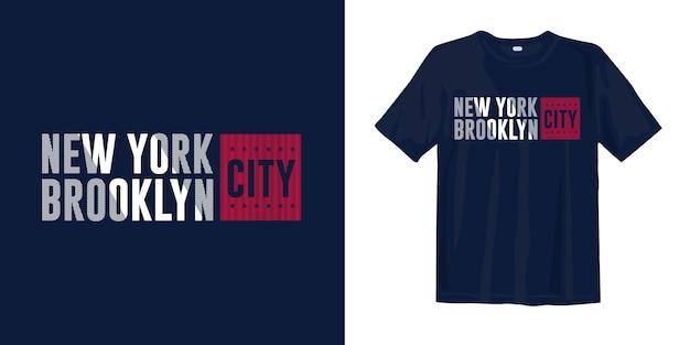 Diseño de camiseta de la ciudad de nueva york, brooklyn