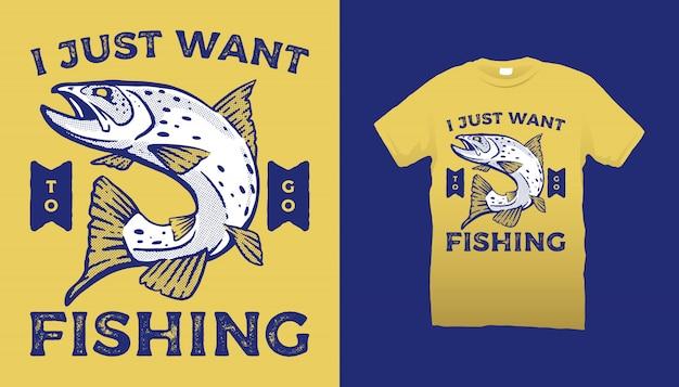 Diseño de camiseta de club de pesca.