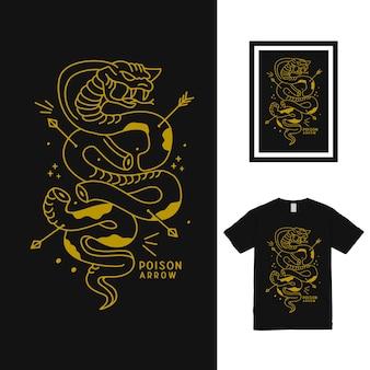 Diseño de camiseta cobra poison