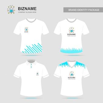 Diseño de camiseta de la compañía con vector logo