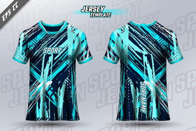 Diseño de camiseta delantera y trasera diseño deportivo para maillot de juego de ciclismo de carreras